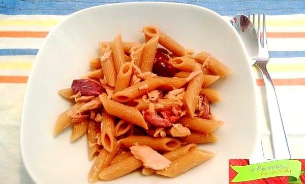 Pasta veloce tonno e olive