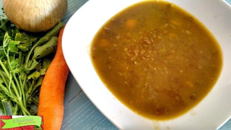 Zuppa di lenticchie aromatizzata con Bimby: variante saporita