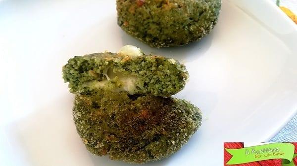Polpette di spinaci e fesa di tacchino ripiene al forno 2