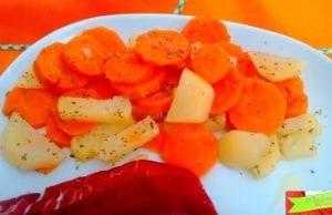 Patate e carote al vapore con Bimby