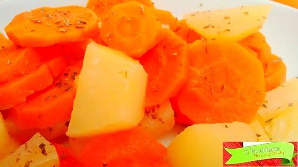Patate e carote al vapore con Bimby 3