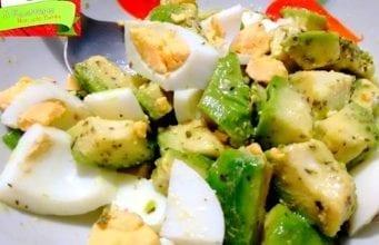 Insalata di avocado e uova