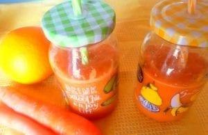 Smoothie rinfrescante carota, zenzero e sedano
