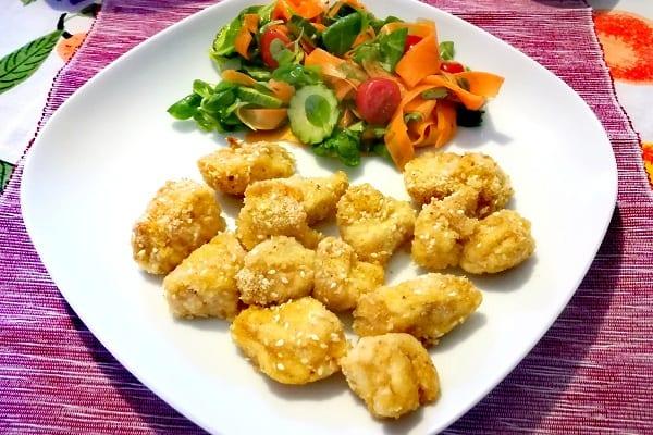 Bocconcini di pollo al sesamo al forno 3