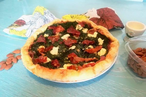Torta salata con philadelphia e spinaci 3