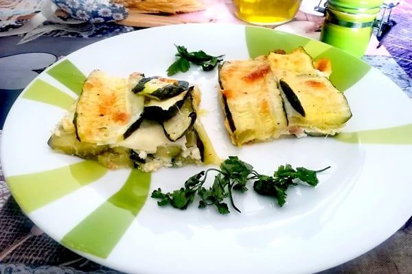 Parmigiana bianca di zucchine 4