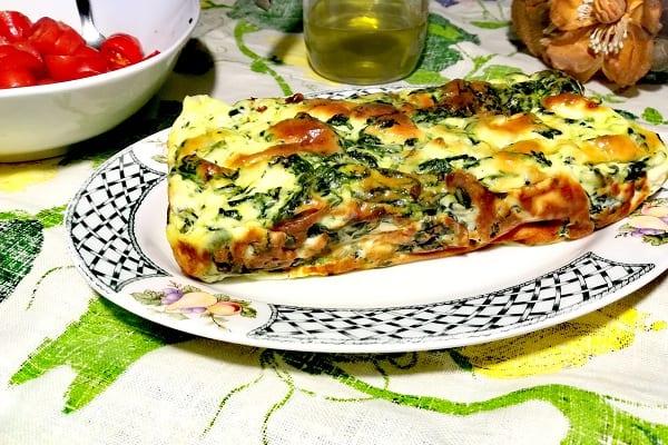 Sformato di ricotta e spinaci