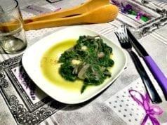 Spinaci in padella al parmigiano