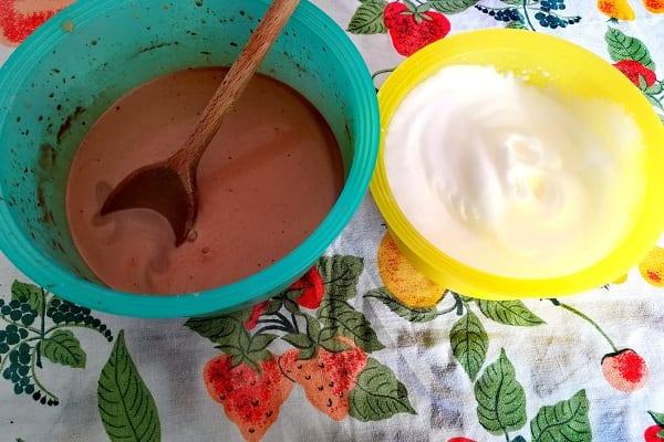 Torta magica ciocco caffè 1