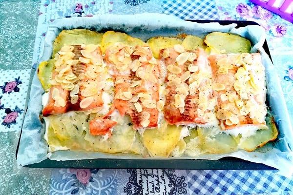 Filetto di salmone in crosta di mandorle 3