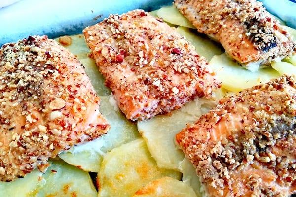 Filetto di salmone in crosta di mandorle 5