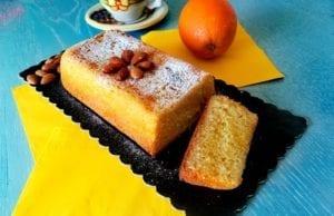 Plumcake arancia e mandorle senza glutine