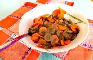 Carote e zucchine in agrodolce Bimby
