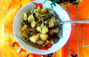 Carciofi e patate Bimby light