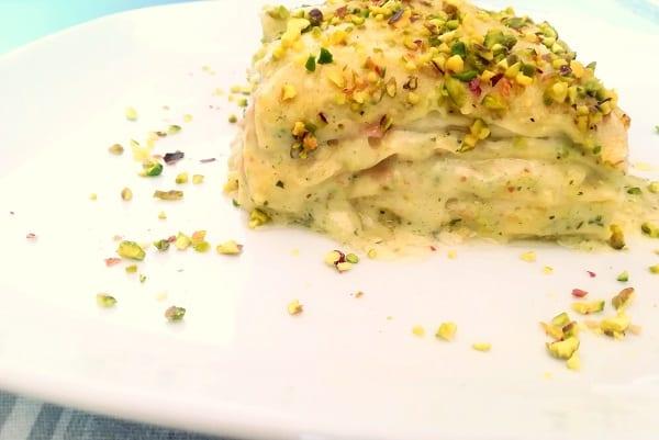 Lasagne pistacchio e mortadella 5