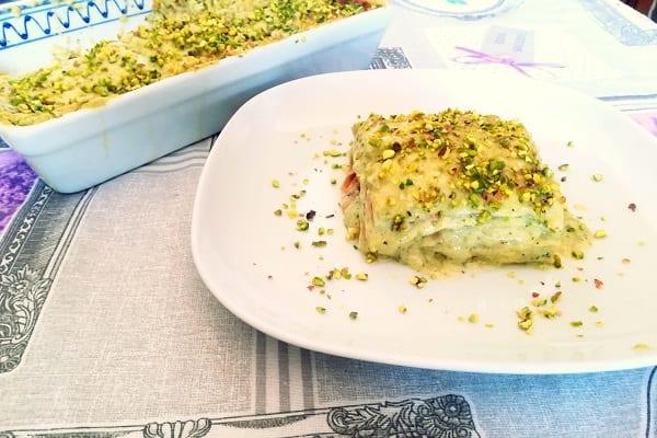 Lasagne pistacchio e mortadella 4