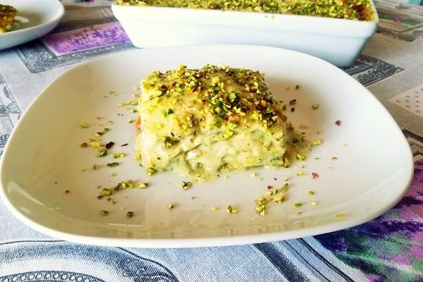 Lasagne pistacchio e mortadella