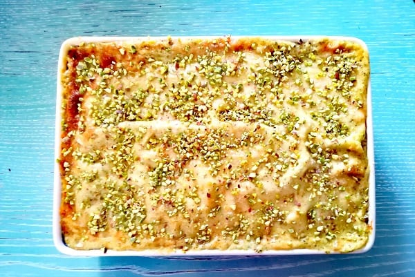 Lasagne pistacchio e mortadella 3