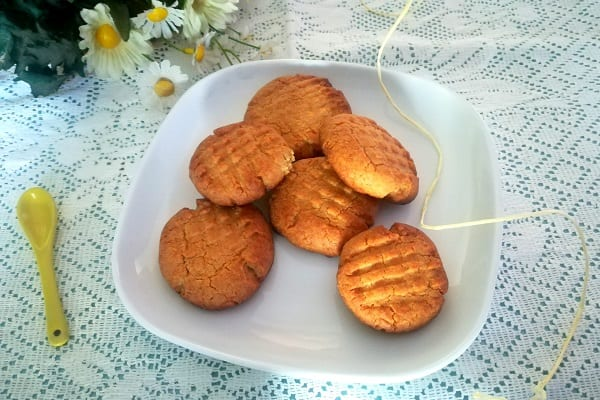Biscotti al burro di arachidi americani, Peanut butter cookies 5