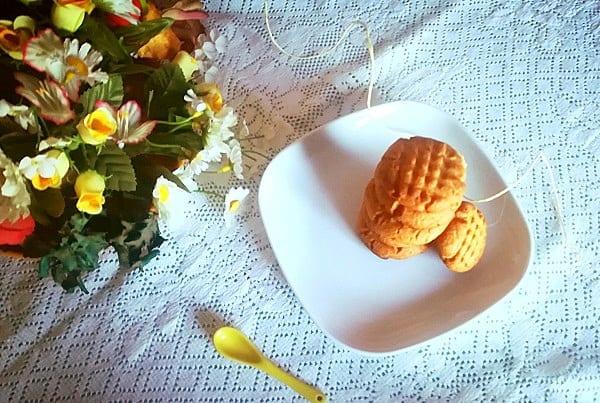 Biscotti al burro di arachidi americani, Peanut butter cookies 4