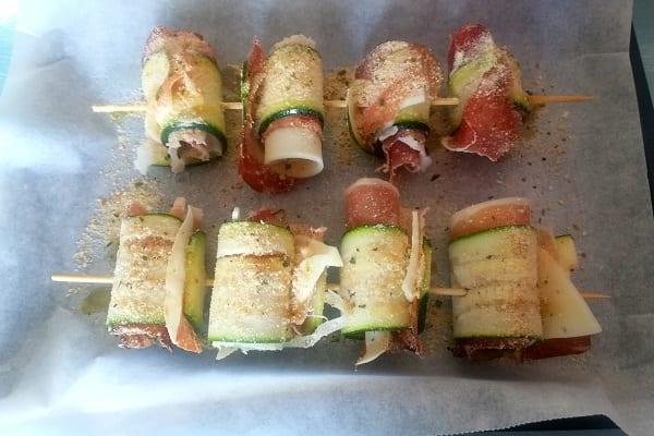 Involtini di zucchine con provolone e speck 3