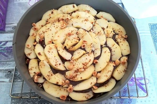 Torta di mele al cioccolato 3