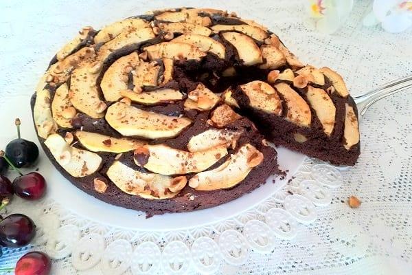 Torta di mele al cioccolato 4