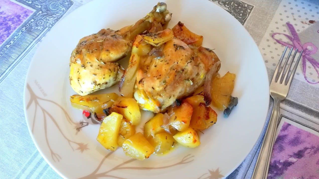 Pollo al forno con patate 5