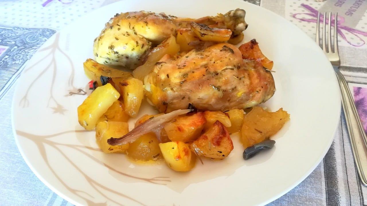 Pollo al forno con patate 4