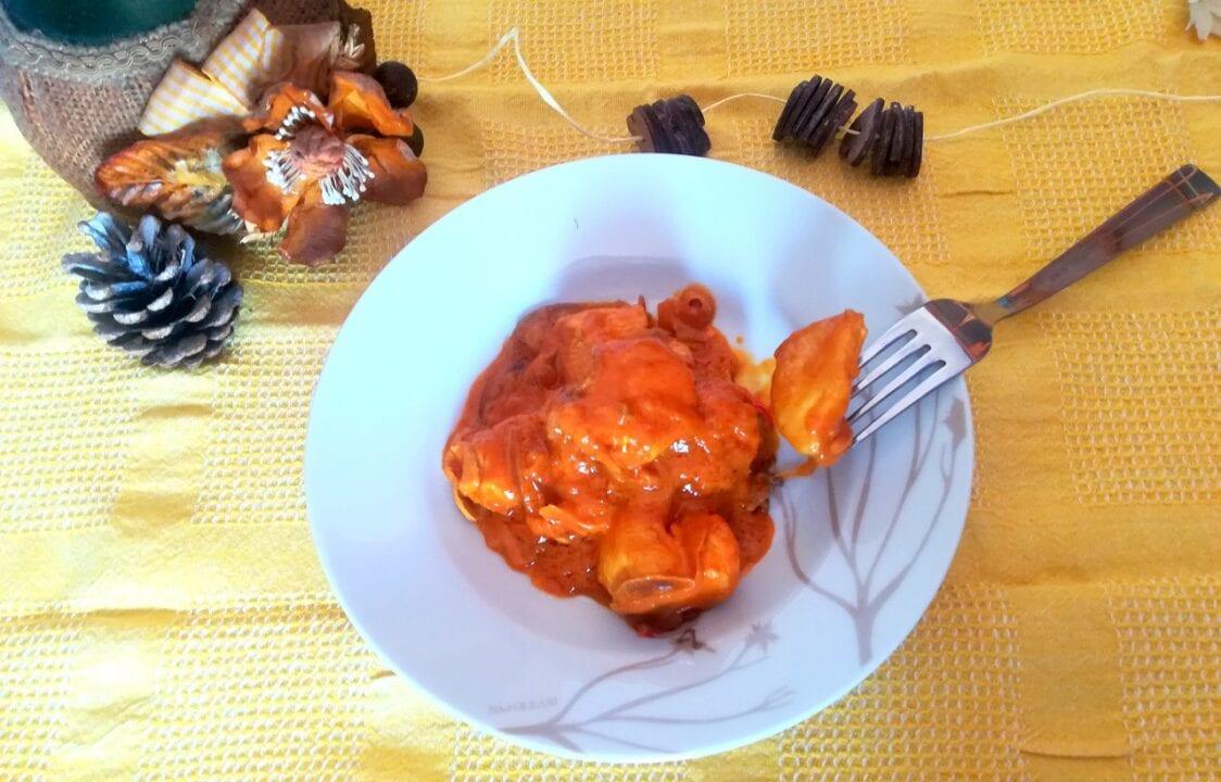 Bocconcini di pollo al burro di arachidi 4