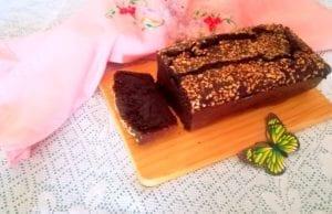 Banana bread al cacao senza glutine e lievito