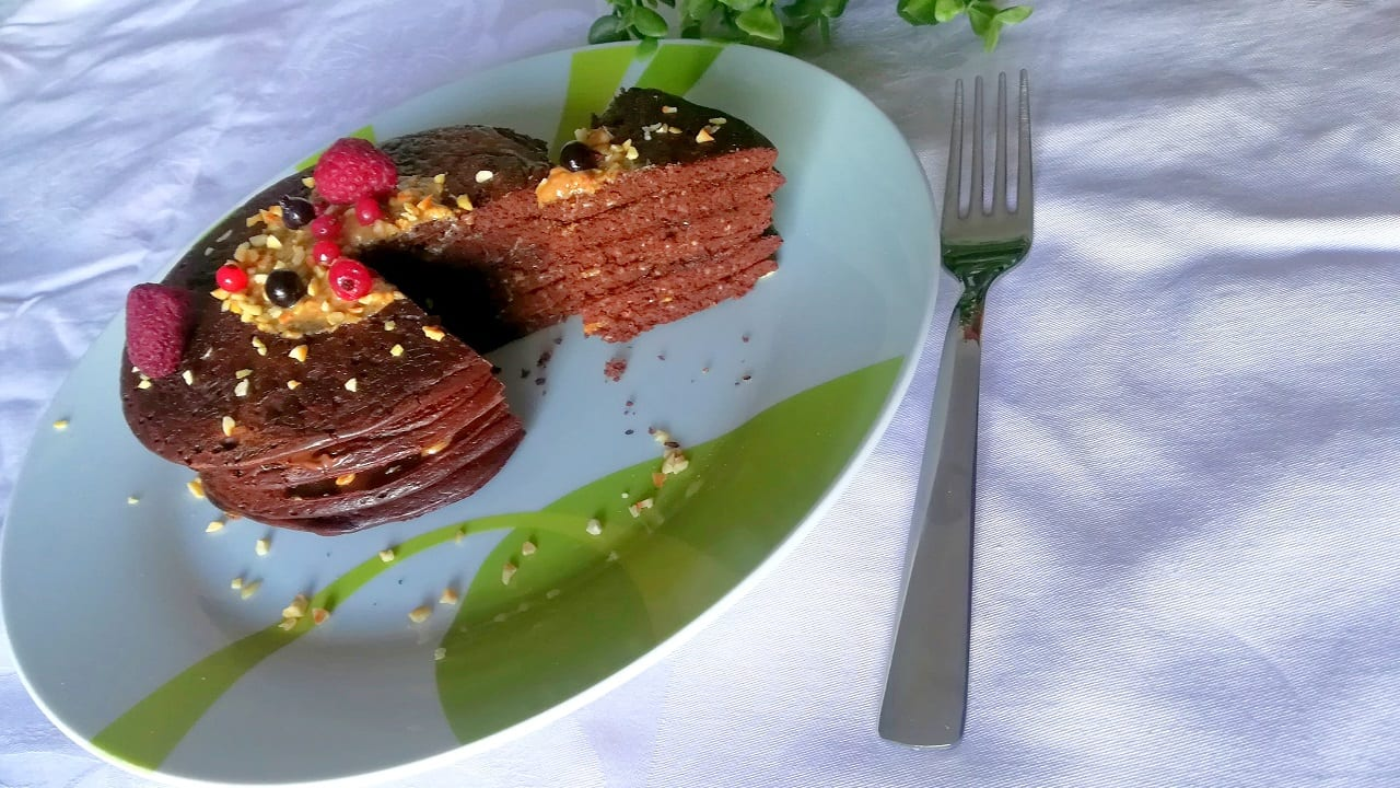 Pancakes proteici avena e cioccolato 6