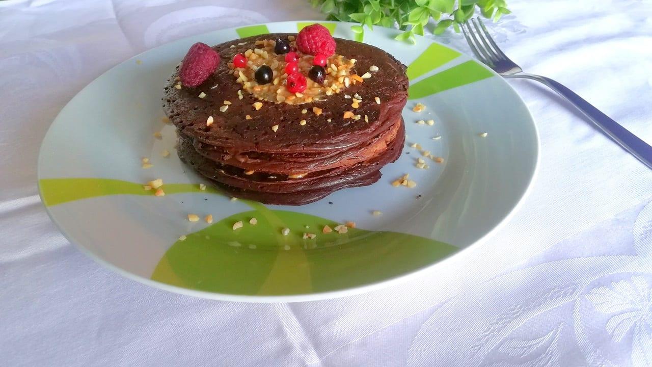 Pancakes proteici avena e cioccolato 5