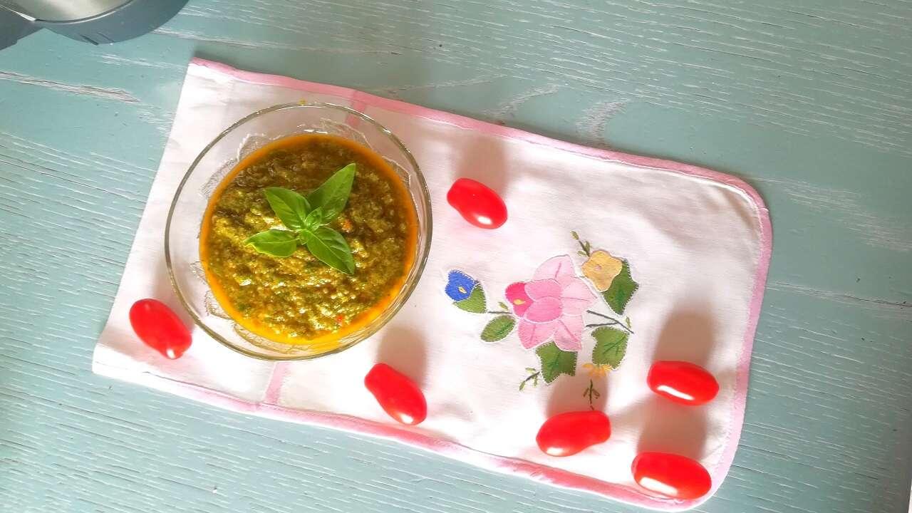 pesto di basilico e pomodoro Bimby 3