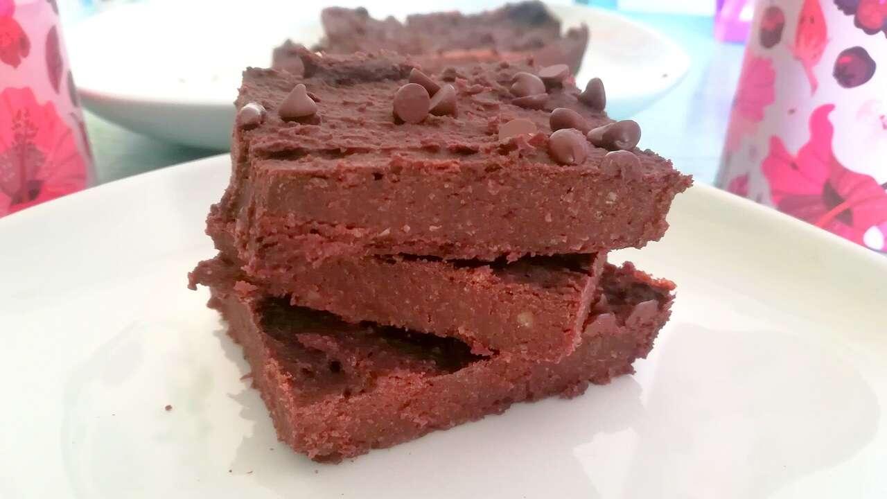 Brownies fit proteici vegan 5