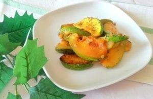 Zucchine tonde aromatizzate