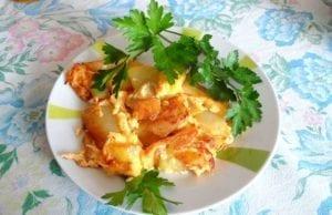 Uova strapazzate con patate
