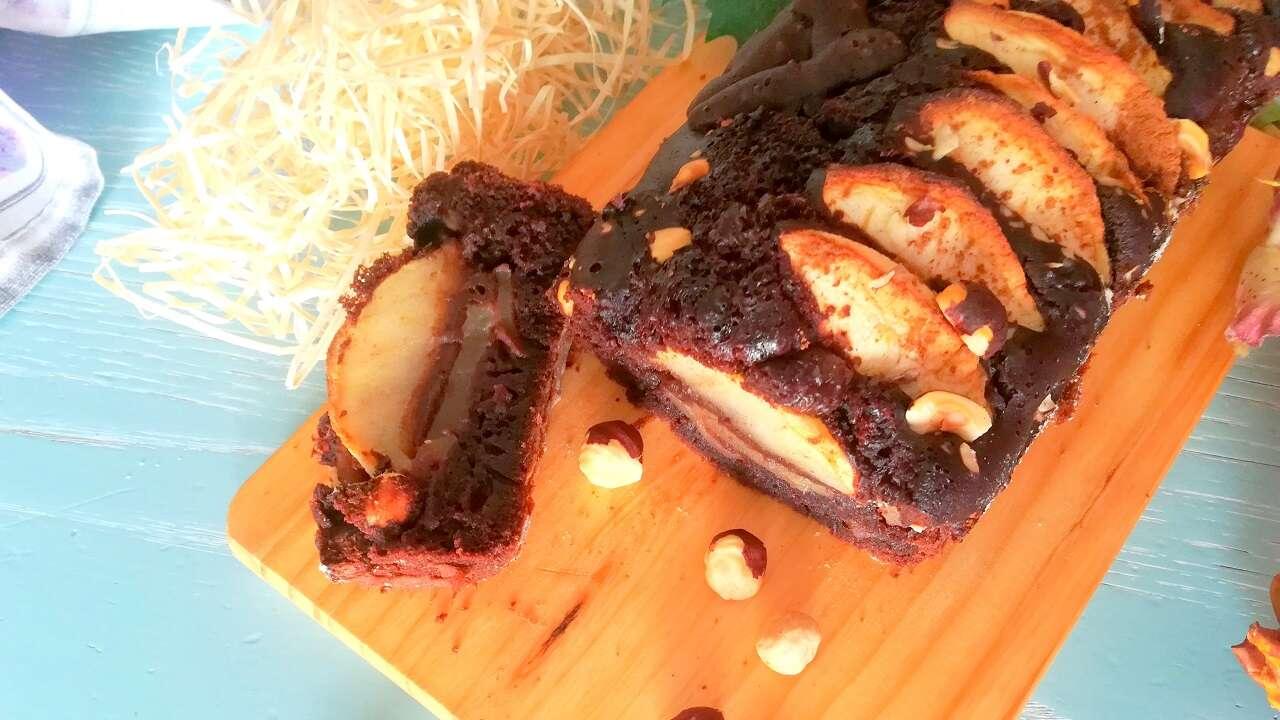Plumcake cioccolato e mele senza glutine 5