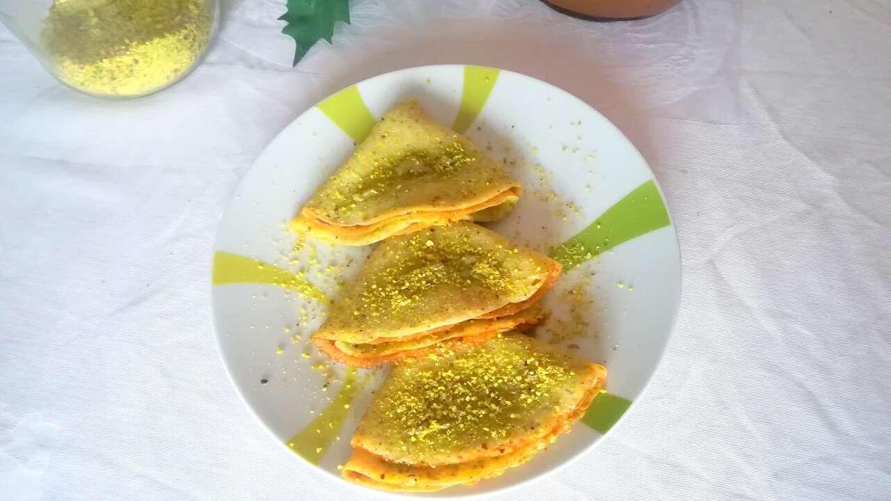 Crepes al pistacchio con nutella 4