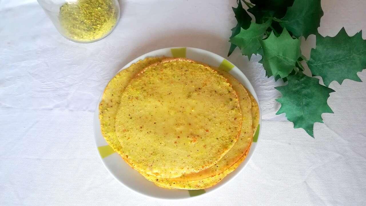 Crepes al pistacchio con nutella 3