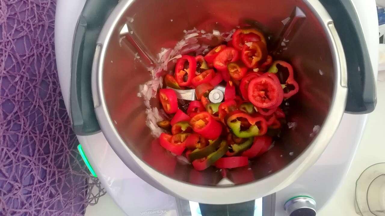 peperoni con olive Bimby 3