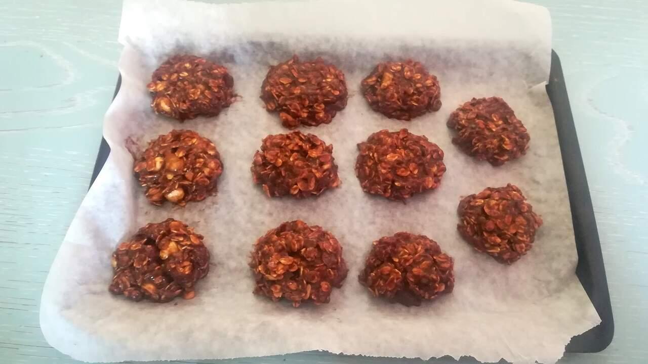 Biscotti velocissimi avena e cacao 3