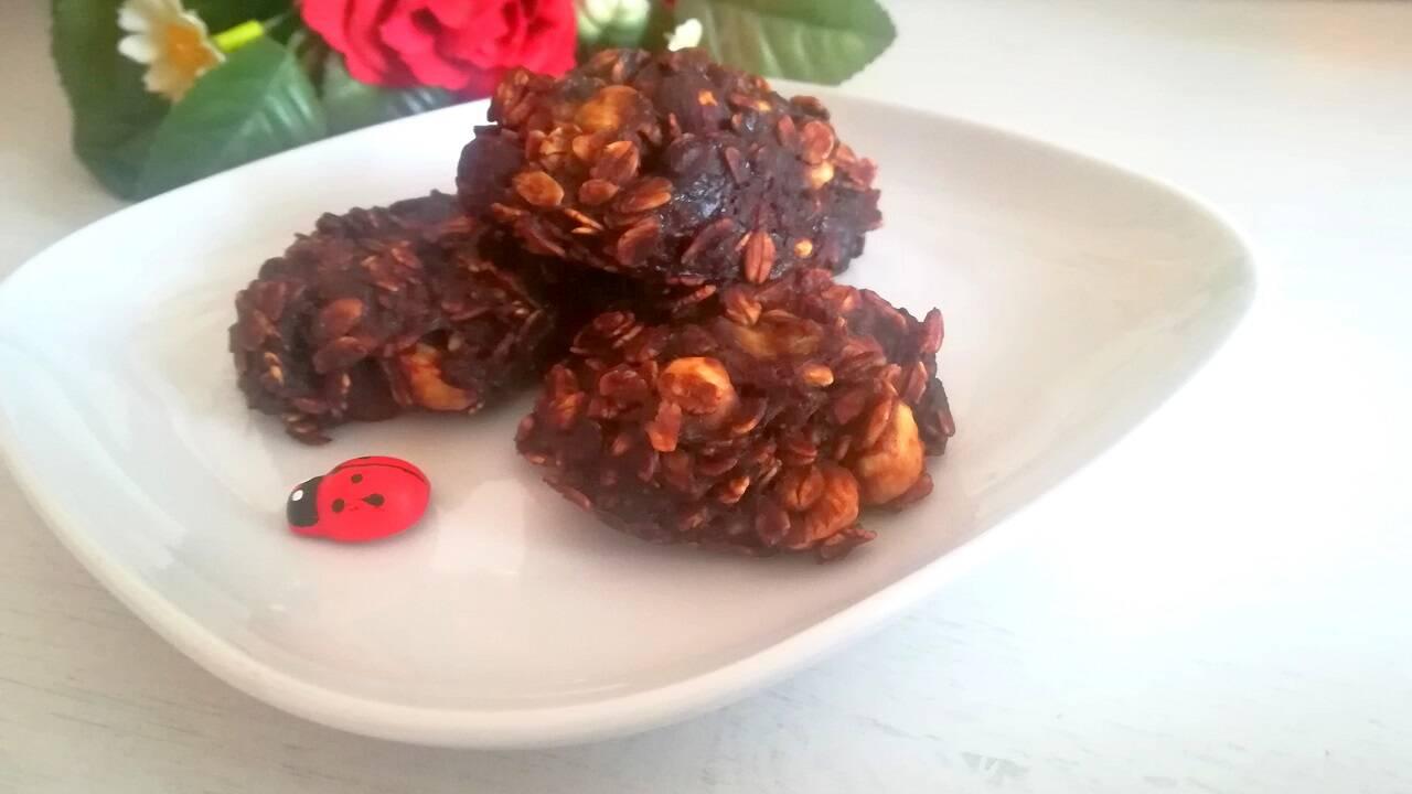 Biscotti velocissimi avena e cacao 5