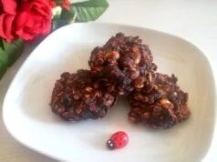 Biscotti velocissimi avena e cacao