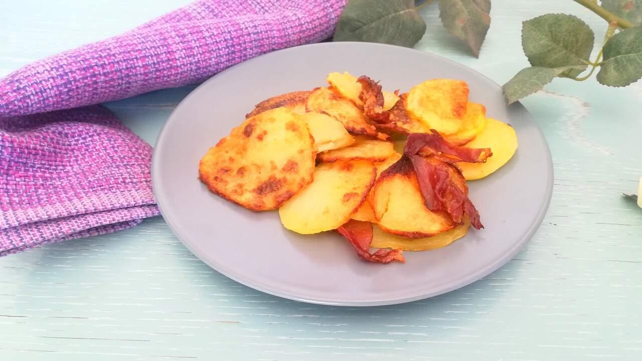 Chips di patate al forno con speck 5