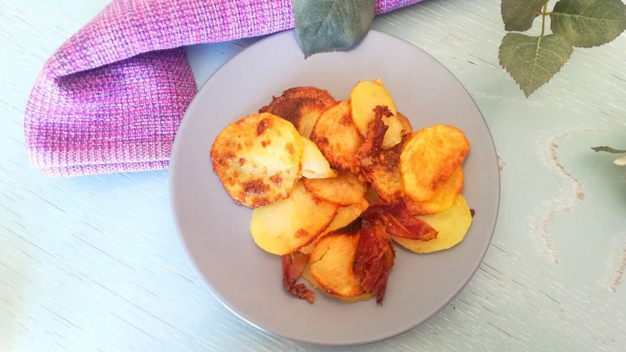 Chips di patate al forno con speck 4