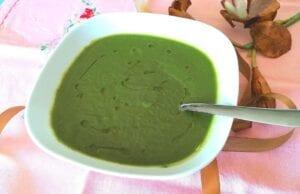 Vellutata detox zucchine e spinaci light