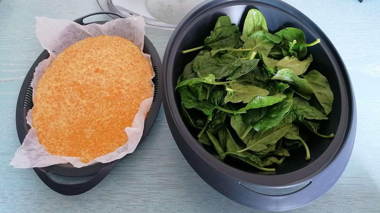 Rotolo di frittata di zucca e spinaci Bimby 2