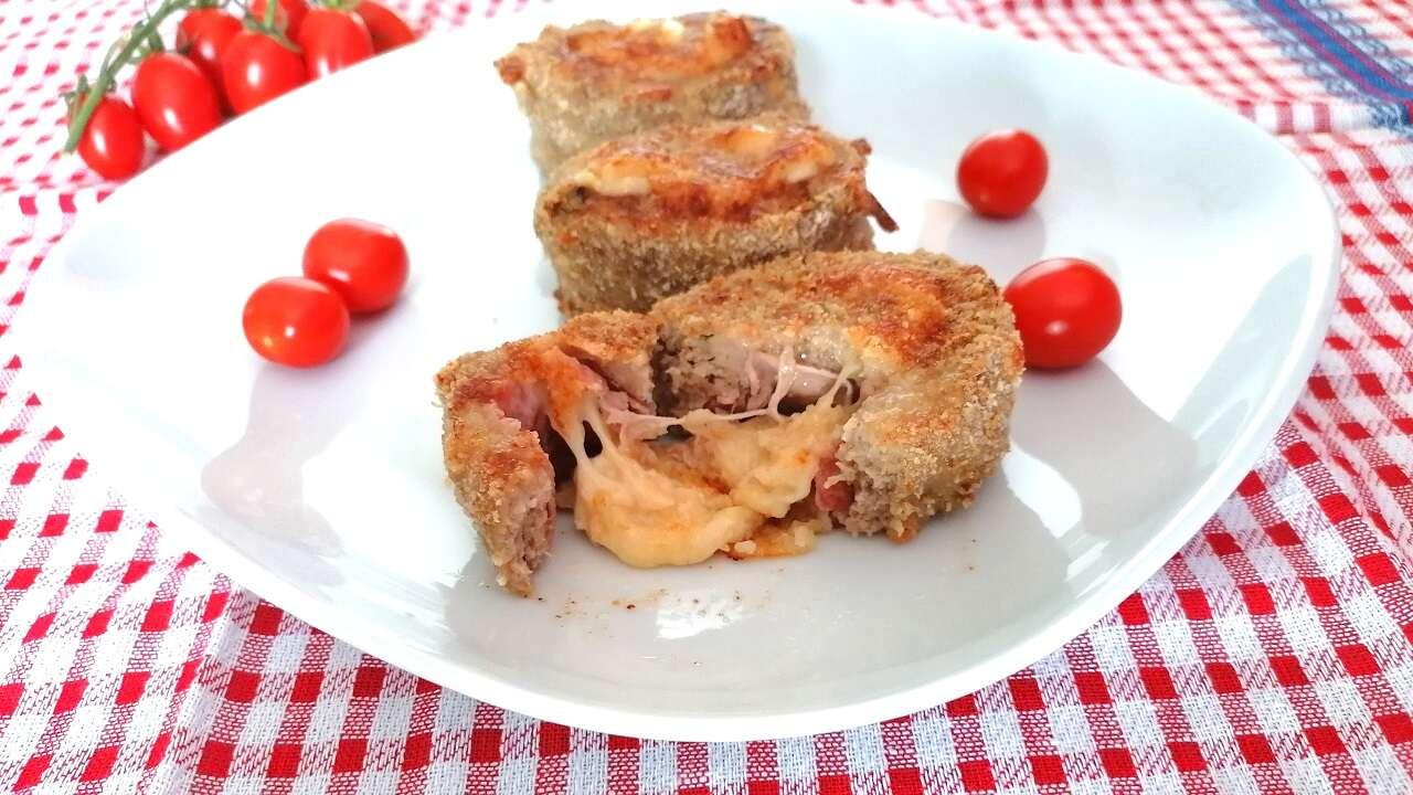Girelle di carne Bimby, con prosciutto e provola 6