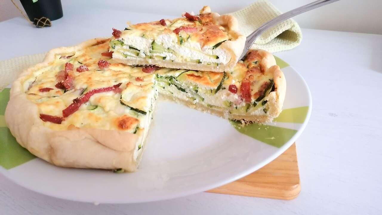 Torta salata ricotta e zucchine 5